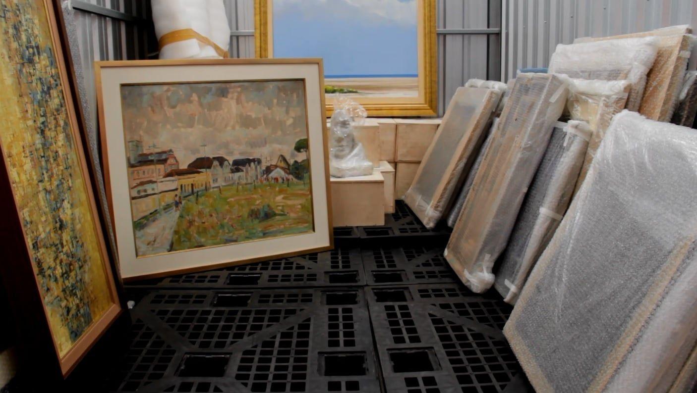 Como guardar obras de arte com segurança?